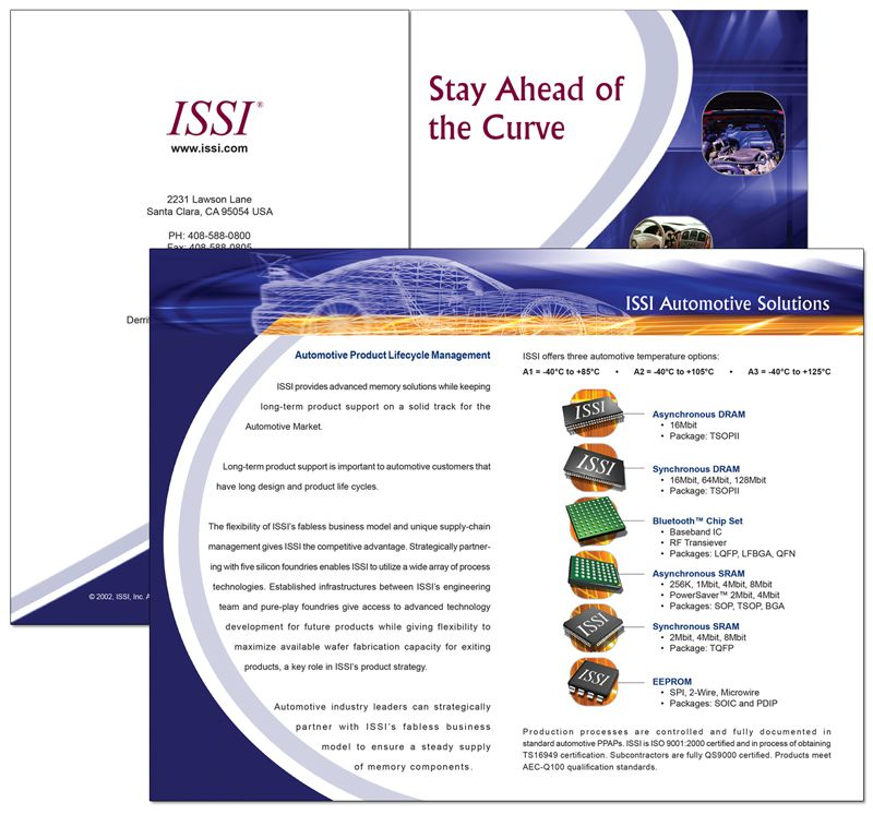 ISSI Automotive Brochure Design