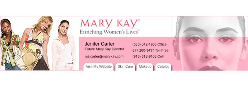 Mary Kay Email Banner Design
