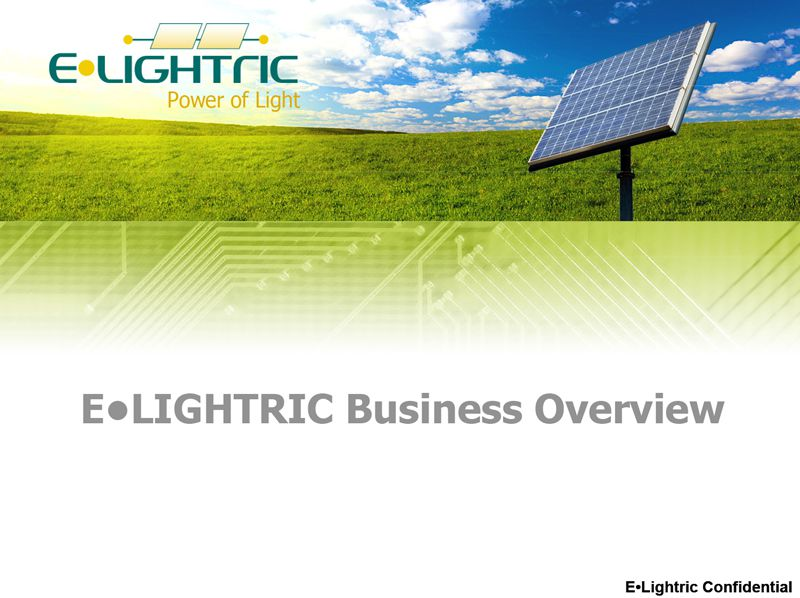 E•Lightric Presentation